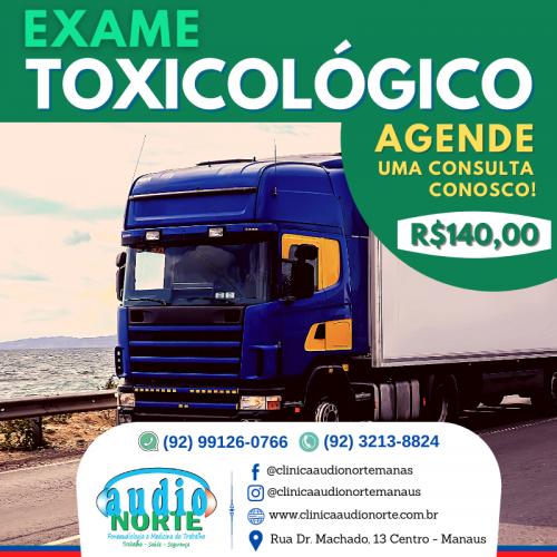 Clínica Áudio Norte Manaus - Exame Toxicológico Promoção